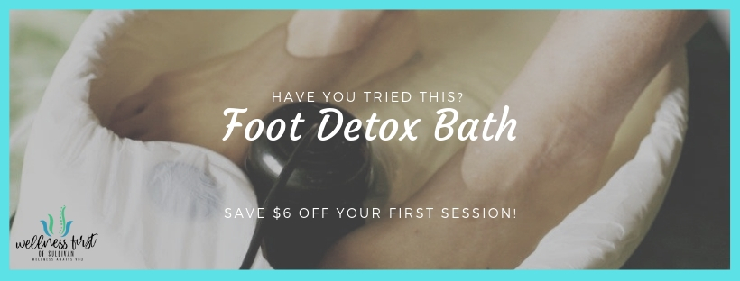 Remove toxins and pollutants with a Foot Detox Bath